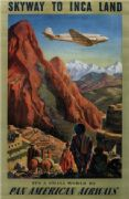 Vintage Travel Poster Pan American Airways (PAA)